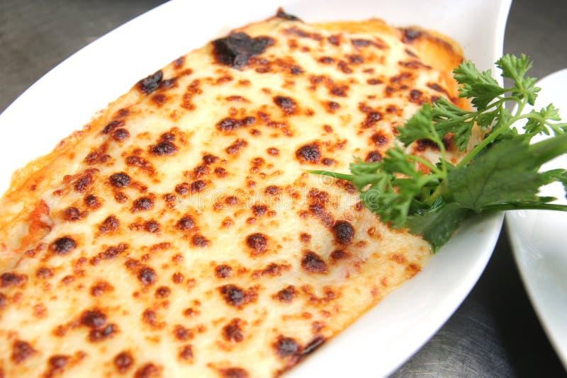 Lasagne cuit au four image libre de droits