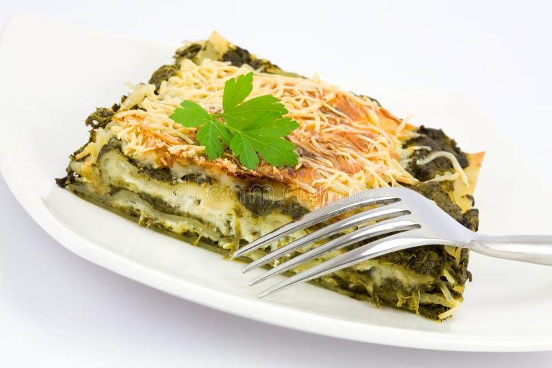 Lasagne d'épinards image libre de droits