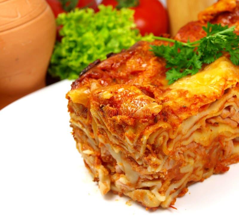 Lasagne de boeuf image stock