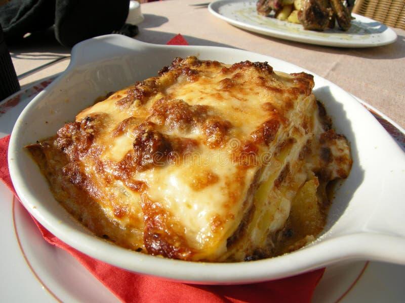 Lasagne delicioso en Italia imagen de archivo libre de regalías
