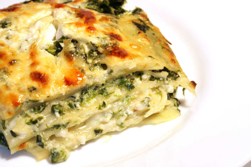 Lasagne do vegetariano com ricott imagem de stock