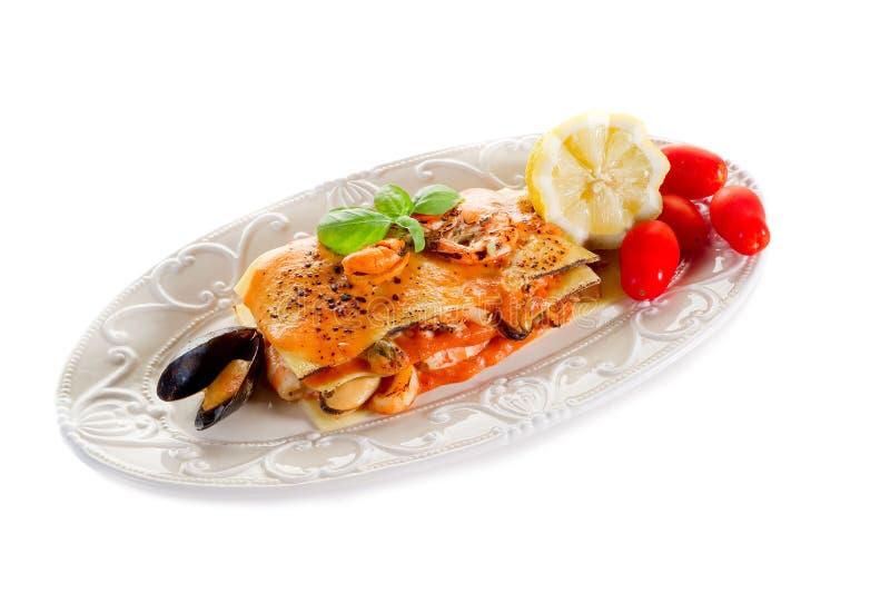 Lasagne dos peixes fotos de stock royalty free