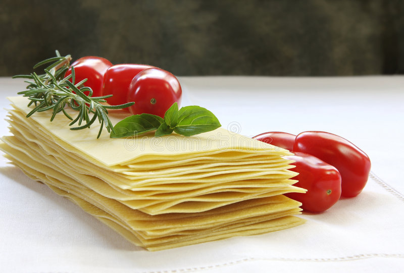 Lasagne Ingredients Royalty Free Stock Image