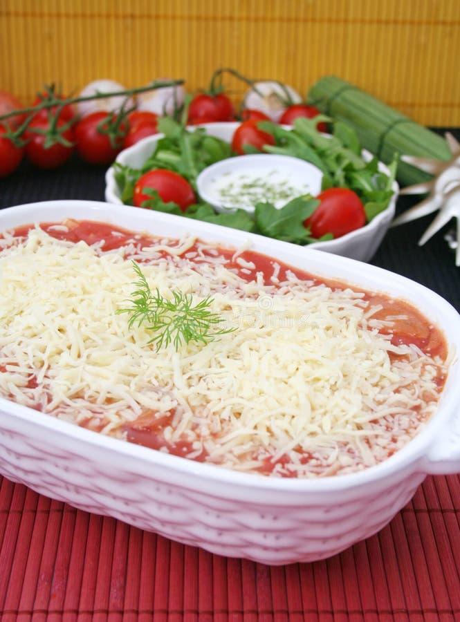 Lasagne italiano imagenes de archivo