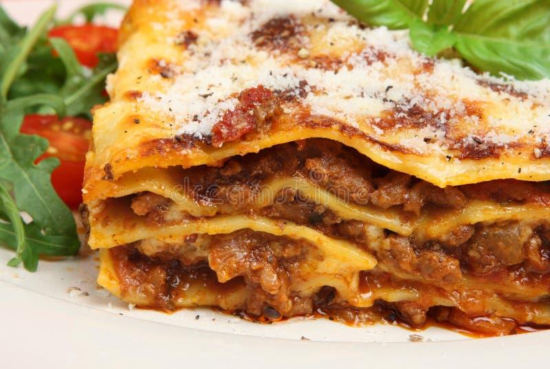 Lasagne mit Rindfleisch lizenzfreie stockbilder