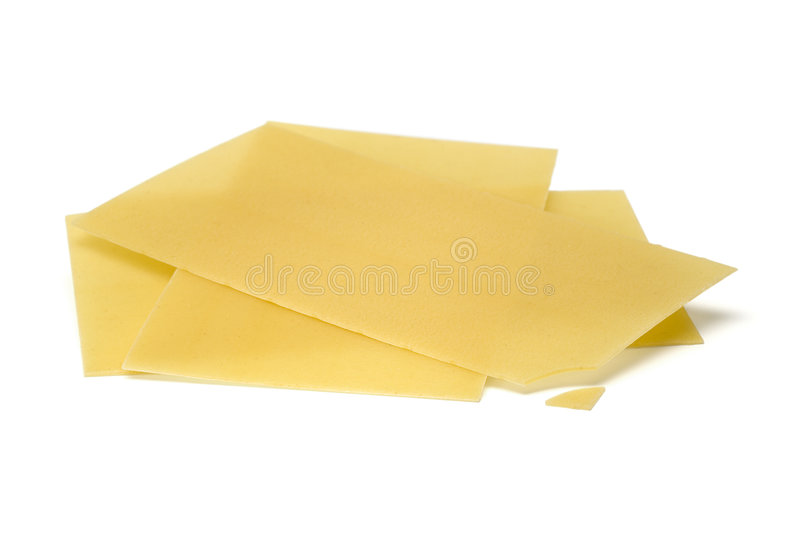 Lasagne pasta sheets isolated royalty free stock images