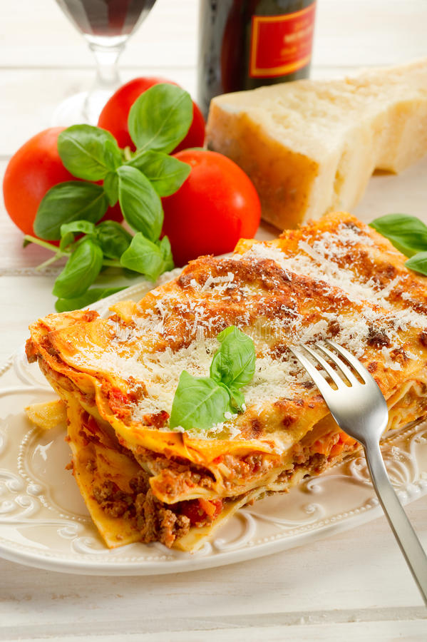Download Lasagne with ragu stock image. Image of cooked, italy - 16101171