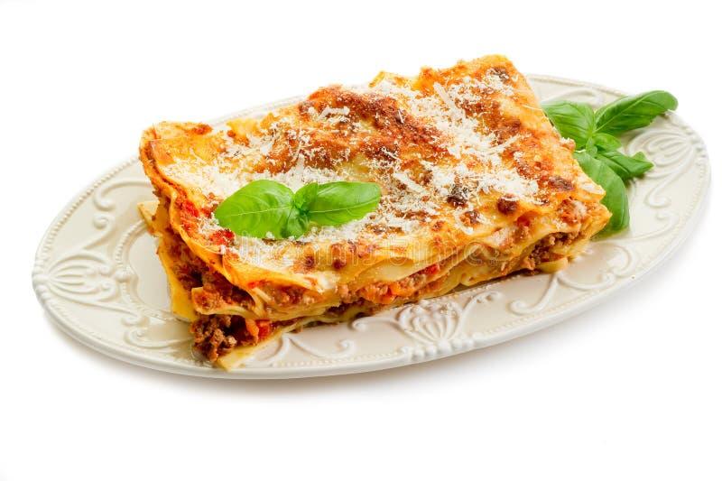 Lasagne with ragu stock photography