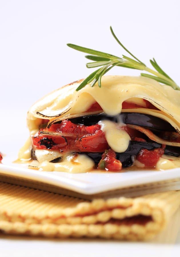 Lasagne végétarien photo stock