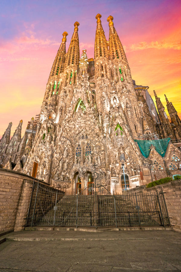 LaSagrada familia, Barcelona, spain. royaltyfri bild