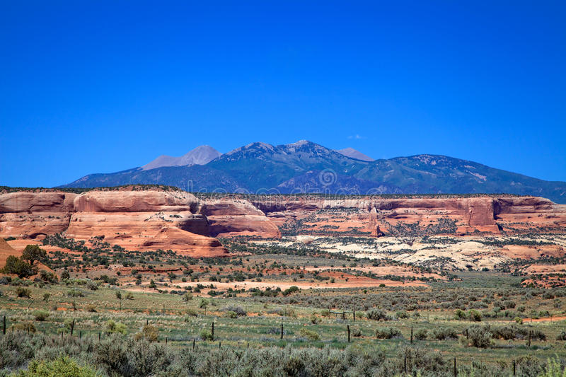 Download LaSal Mountain Vista stock photo. Image of southwest - 31857076