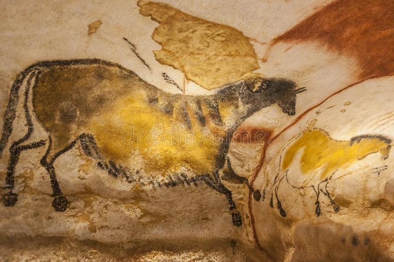 Lascaux cave paintings royalty free stock images