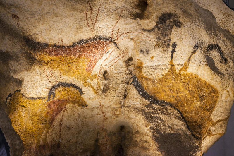 Lascaux cave paintings stock photo