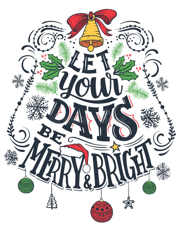 Lasci i vostri giorni essere allegri e luminosi illustrazione di stock