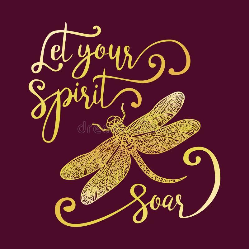 Lasci il vostro spirito salire illustrazione di stock
