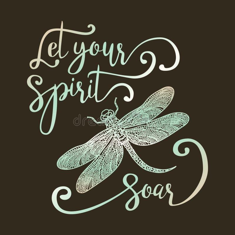 Lasci il vostro spirito salire royalty illustrazione gratis