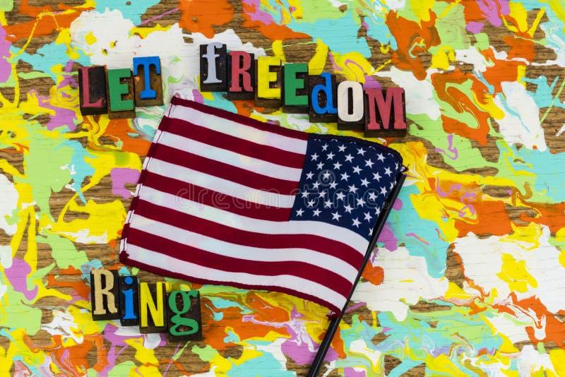 Lasci la campana di libertà dell'anello di libertà fotografia stock