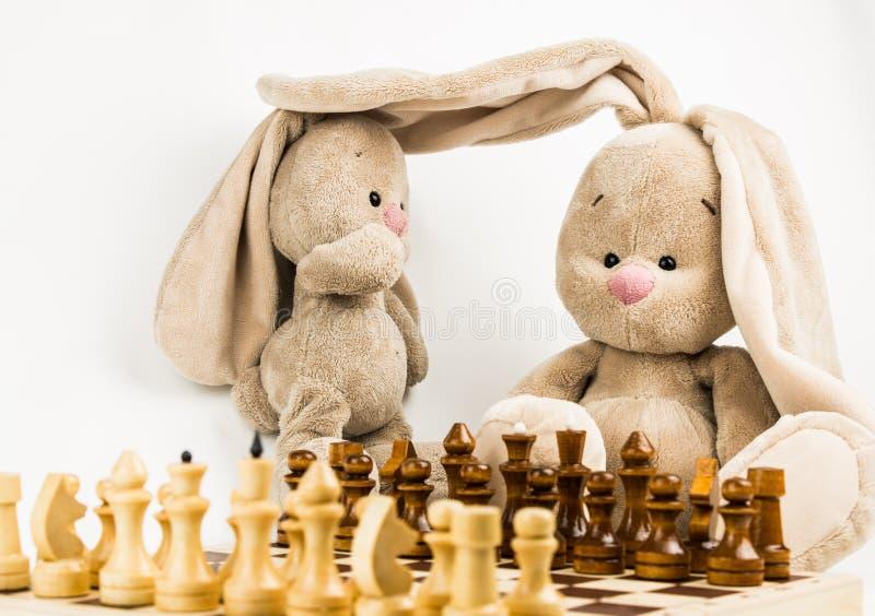 Lascia gli scacchi del gioco fotografie stock libere da diritti