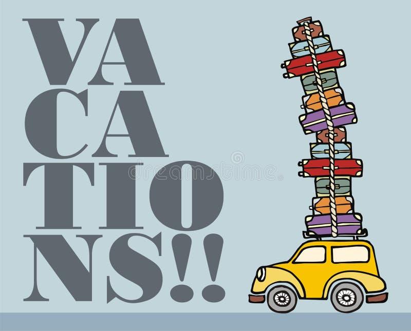 Lascia Per Andare Per Divertimento: Un Automobile Pronta Per Le Vacanze. Fotografia Stock