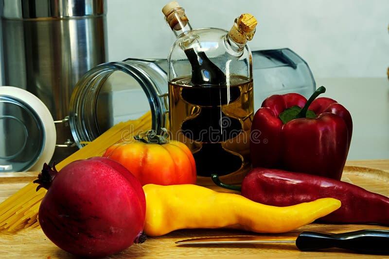 Lascia per ottenere cucinante fotografia stock