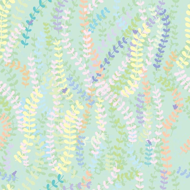Download Lascia A Piccola Decorazione Dell'uccello Il Modello Senza Cuciture Illustrazione Vettoriale - Illustrazione di foresta, contesto: 56889669