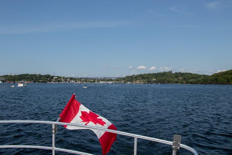 Lasciando Parry Sound, Ontario in barca fotografia stock