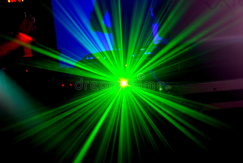 Download Laser stock photo. Image of vinyl, verde, musica, night - 16155756