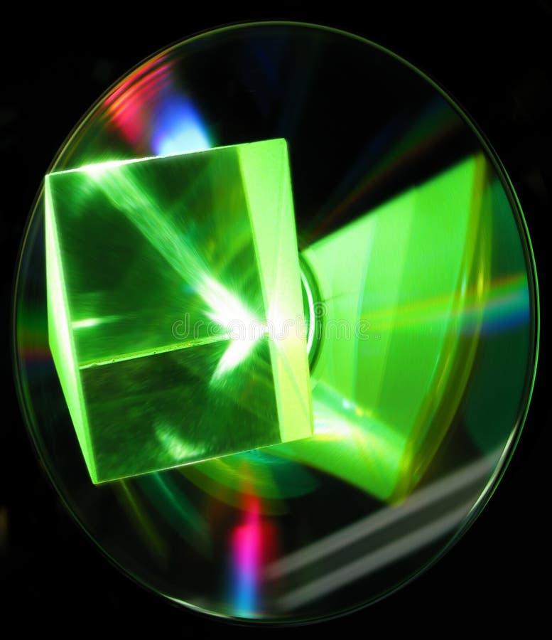 Laser Beam Shining Through A Prism Stock Image