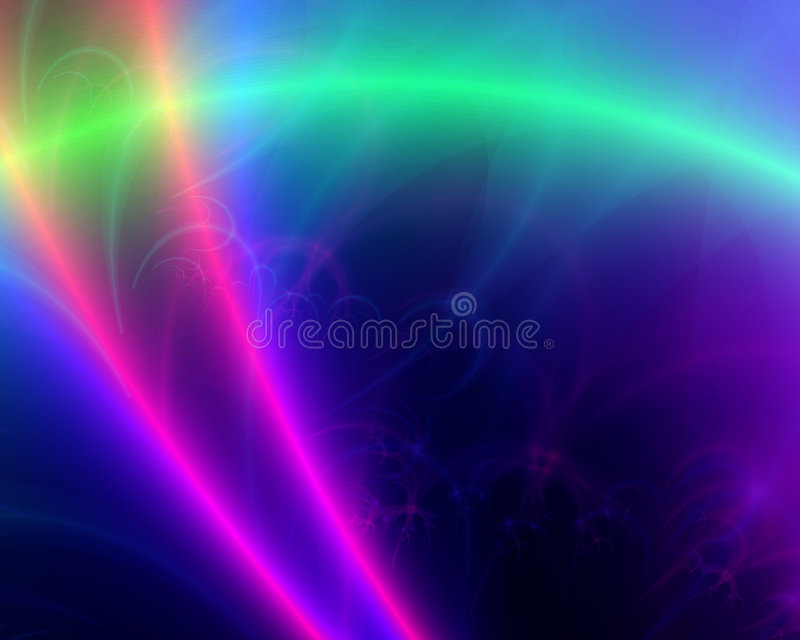 Laser beams. Laser like beams across a colorful background