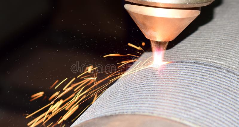 laser cladding, robot welding stock photography