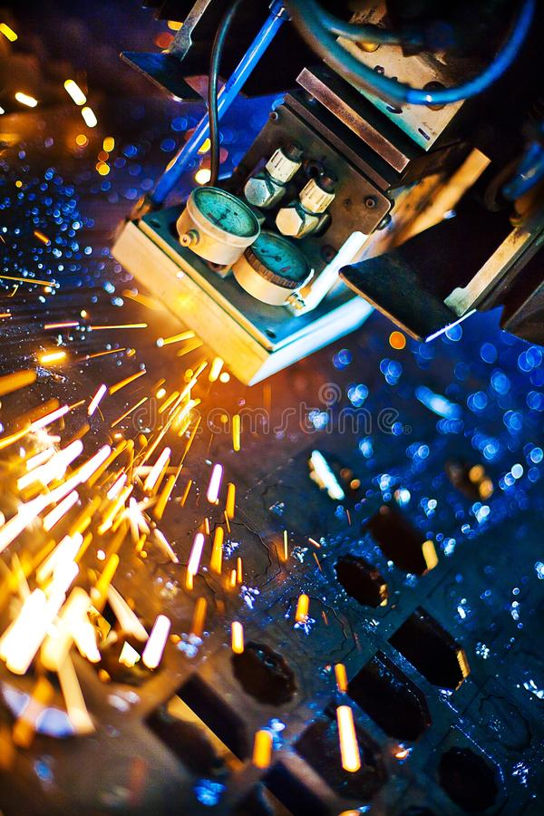Download Laser close-up stock image. Image of close, factory, industrial - 18510865