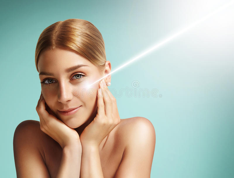 Laser cosmetology concept royalty free stock image