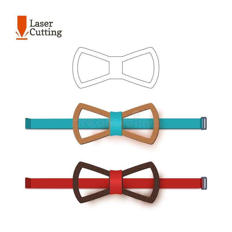laser cut bow tie template for diy vector silhouette for cutting a