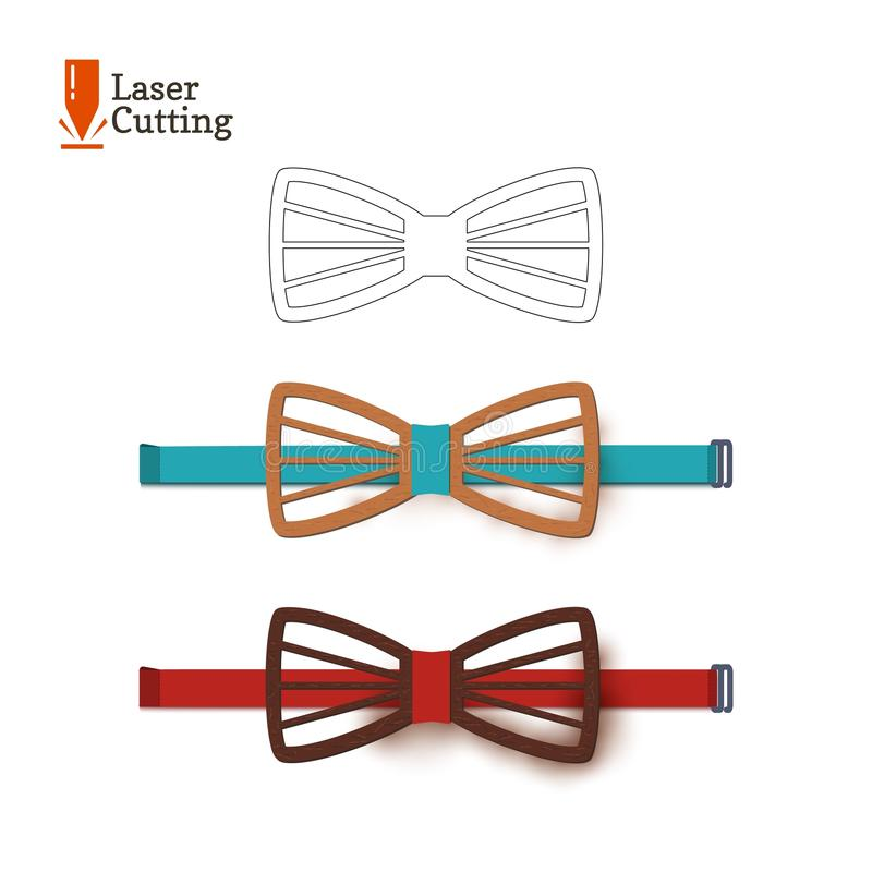 Laser Cut BowTie Template Vector Silhouette For Cutting A Bow Tie