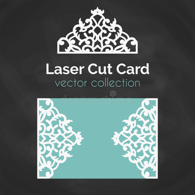 Free Laser Cut Card. Template For Laser Cutting. Cutout Illustration With Abstract Decoration. Die Cut Wedding Invitation Stock Photo - 76190940