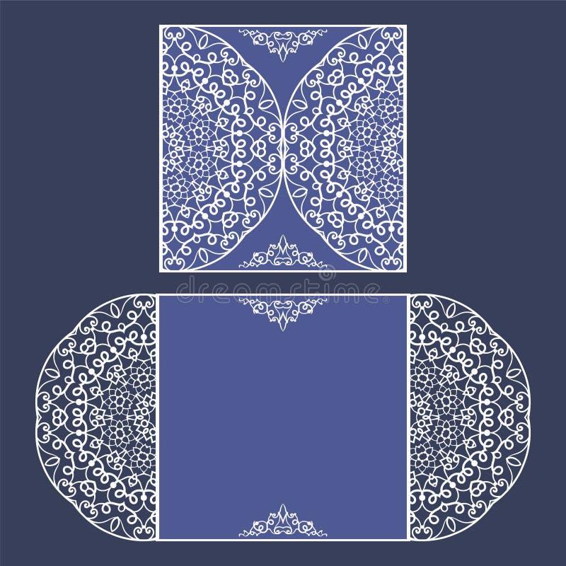 Laser cut card template stock illustration