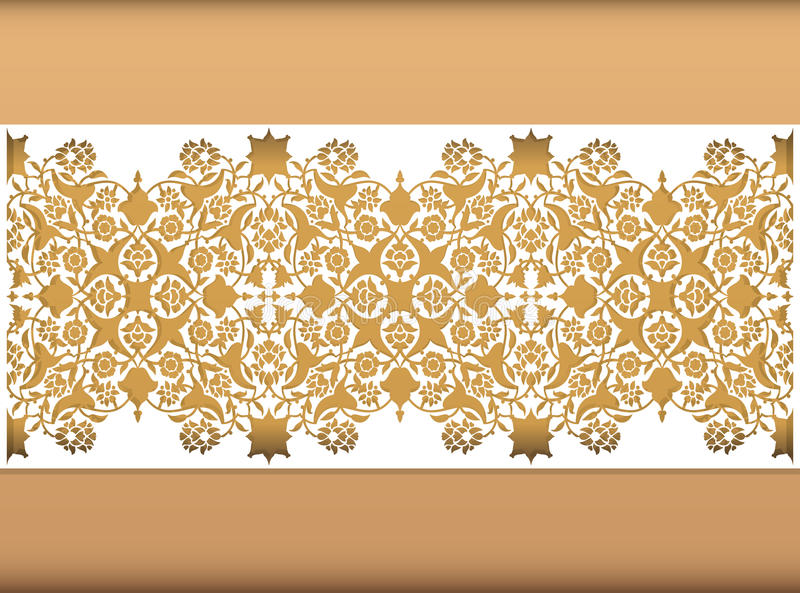 Laser cut floral arabesque ornament pattern vector. Template cut. Ting wedding invitation, greeting card. Silhouette pattern printing, engraving, laser cutting royalty free illustration