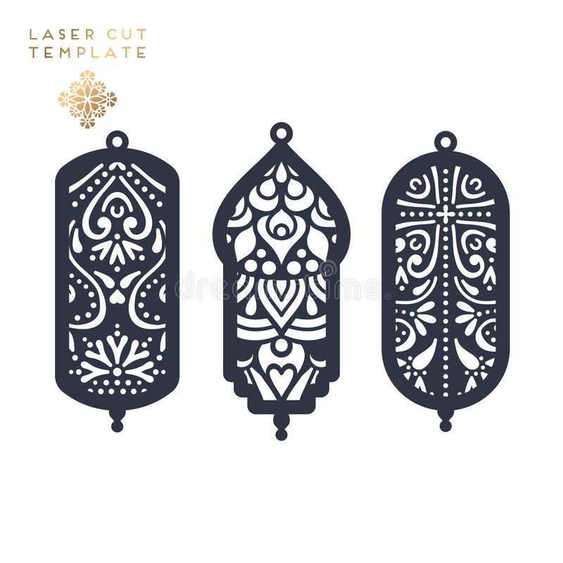 Laser cut islamic pattern vector illustration