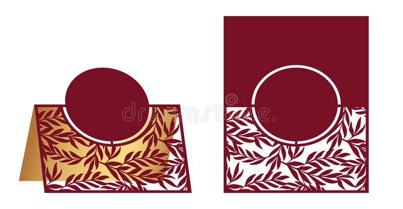Laser cut ornamental vector template with floral pattern. Freest vector illustration