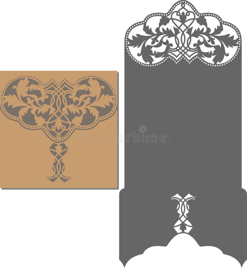 Free Laser Cut Pattern For Invitation Card For Wedding Royalty Free Stock Photos - 70509628