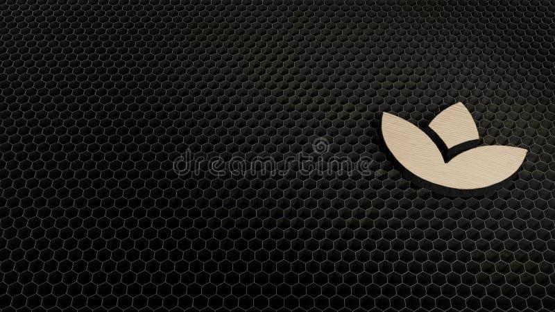 laser cut plywood symbol of spa vector illustration