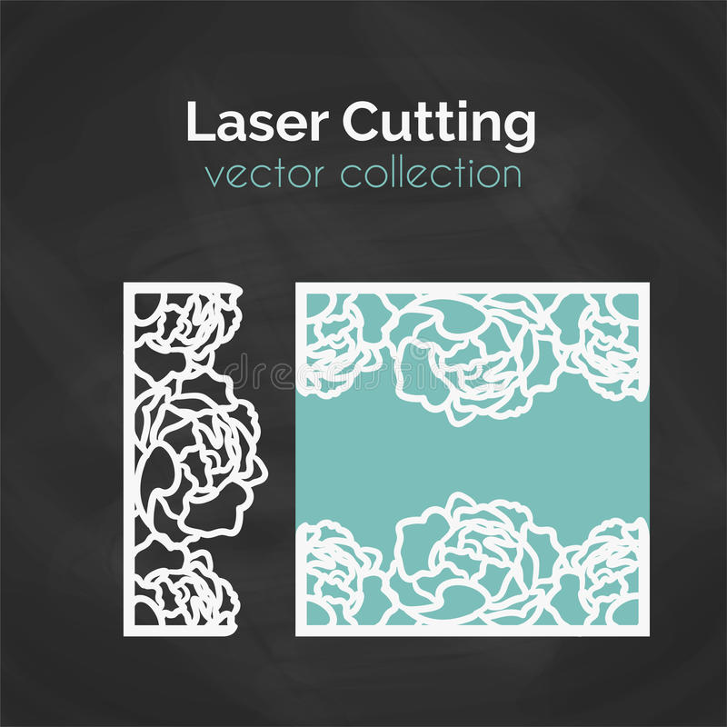 Laser Cut Template. Card For Cutting. Cutout Illustration stock illustration