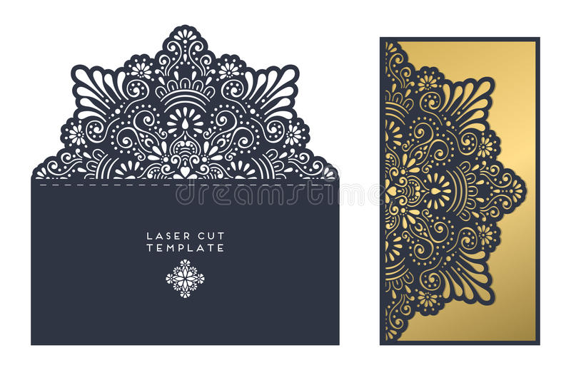 Laser cut template royalty free illustration