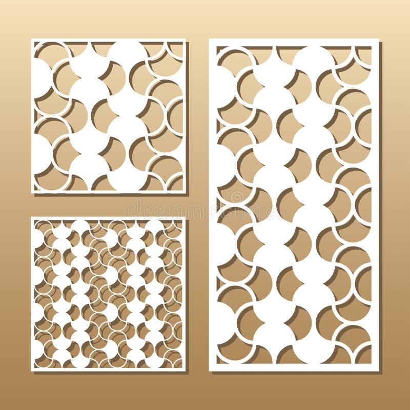 Laser cut vector panel stock illustration