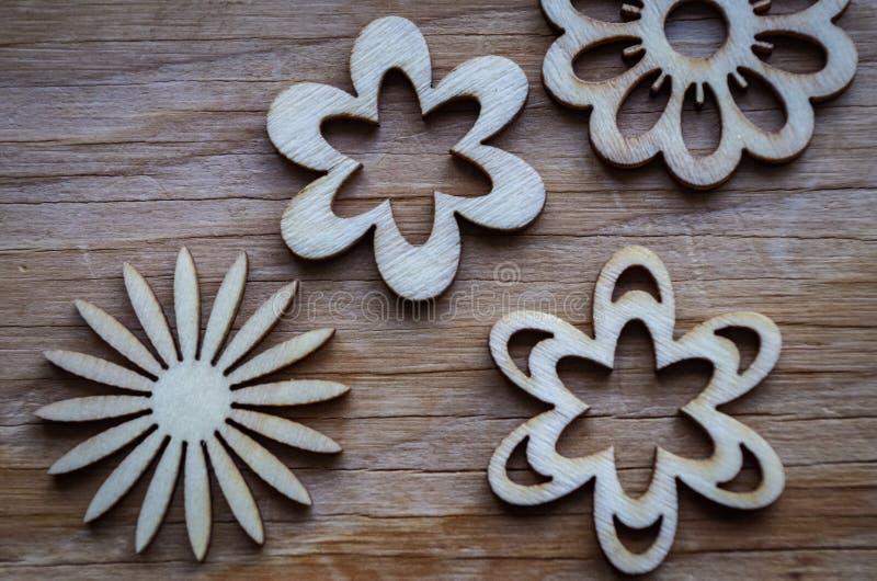 Wood Flowers stock image