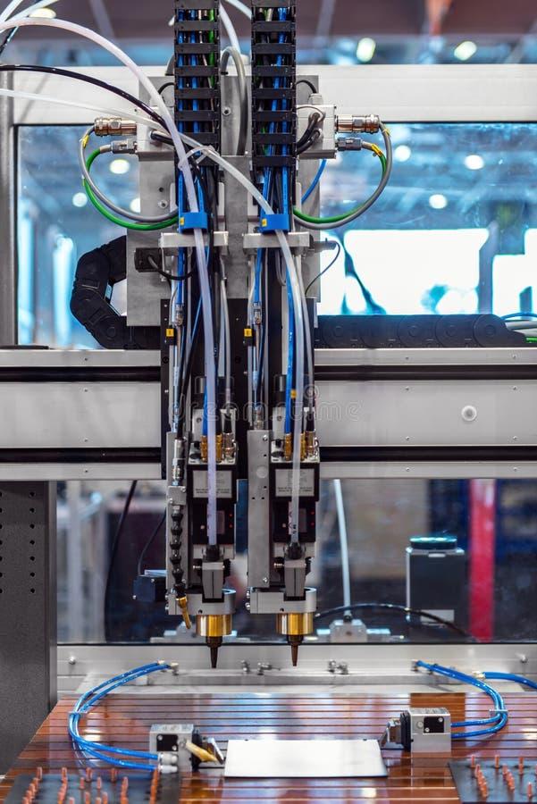 Laser cutter in a factory
