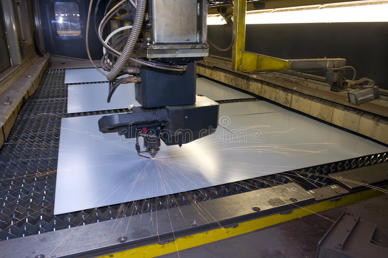 Laser Cutting Royalty Free Stock Photo