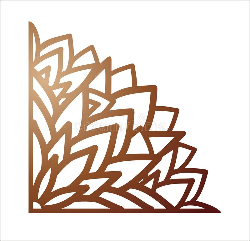 Free Laser Cutting Corner. Vector Template For Paper Cutting, Metal A Stock Image - 108506151