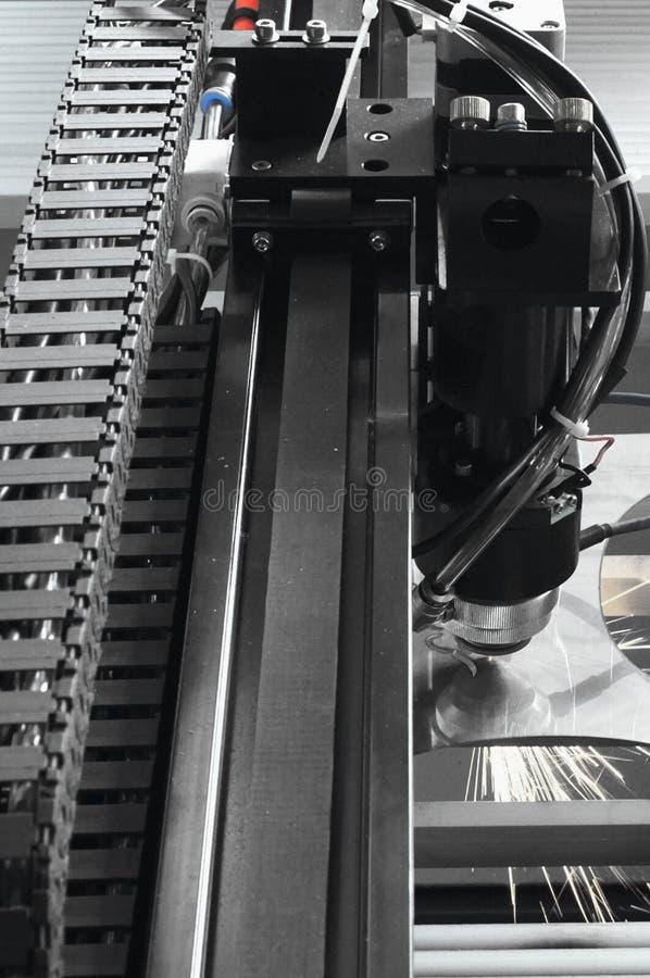Laser cutting machine. A part of Laser cutting machine royalty free stock image