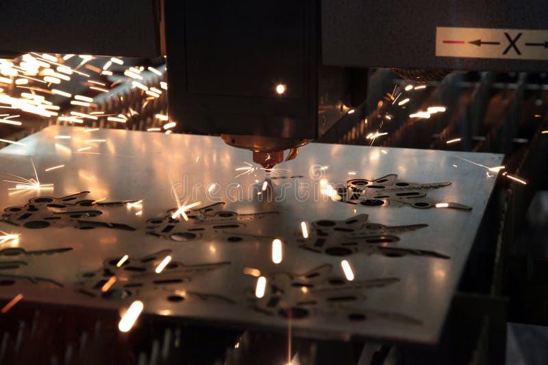 Laser cutting metal royalty free stock photo